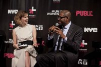 Emma Watson and Forest Whitaker at a HeForShe event