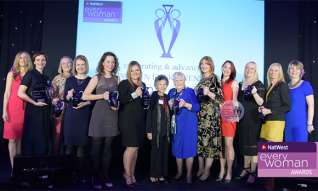 NatWest everywoman Awards winners line up for their photo