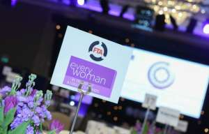 Table stand at the everywoman Transport and Logistics Awards